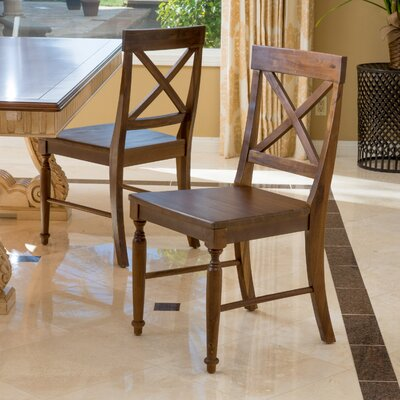 Liza Solid Wood Dining Chair Finish: Dark Oak