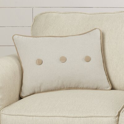 Marni Stripe and Button Cotton Lumbar Pillow