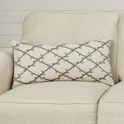 Lyn Vines Cotton Lumbar Pillow