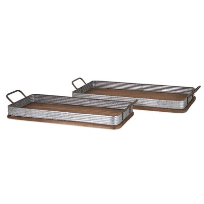 2 Piece Jarvis Decorative Wood Trays Set