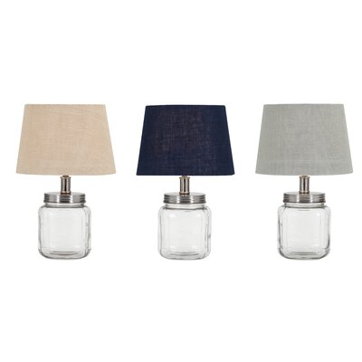 Fillable Glass 16 Table Lamp Set