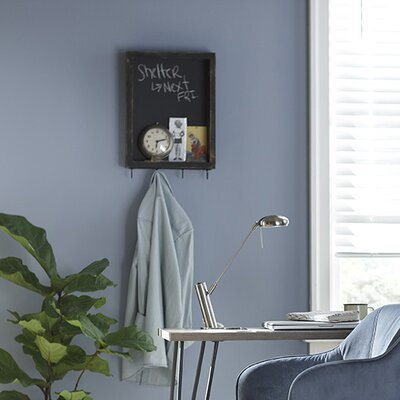 Chalkboard Wall Organizer with Key Hooks