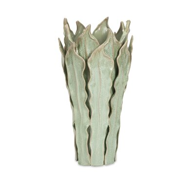 Libbey Sea Leaf Vase Size: Large