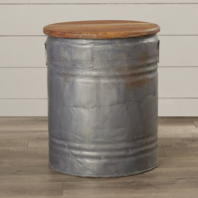 Michelle Metal Wood Drum Stool