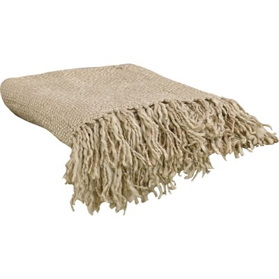 Nova Woven Throw Blanket Color: Taupe