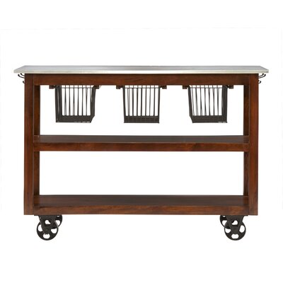 Phoenicis Kitchen Cart with Foil Top