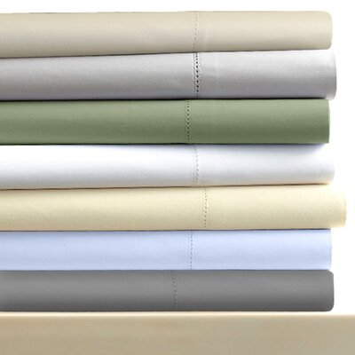 600 Thread Count 6-Piece Egyptian Quality Cotton Sateen Deep Pocket Sheet Set Size: Queen, Color: Steel
