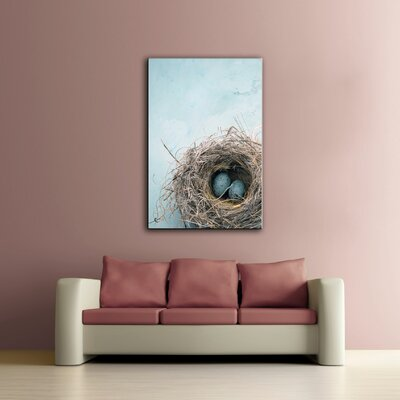"Blue Nest"" by Elena Ray Photographic Print on Wrapped Canvas Size: 24"" H x 16"" W ATGR1162 25320777"
