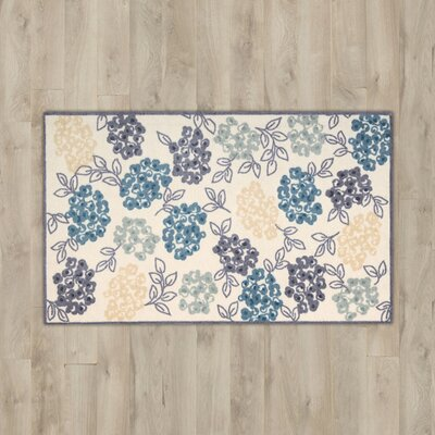 Lyn Floral Blue/Purple Area Rug