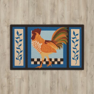 Andora Blue Rooster Area Rug
