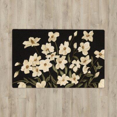Stella Black Floral Area Rug