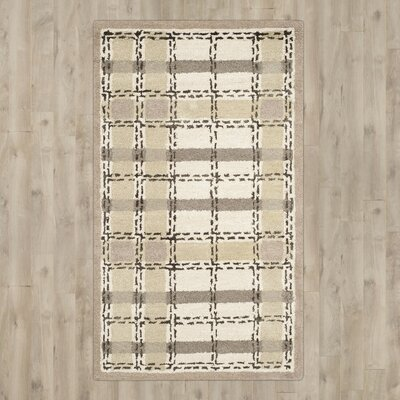 Colorweave Plaid Hand-Tufted Sharkey Gray Area Rug Rug Size: 5 x 8