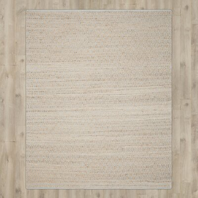 Zap Hand-Woven Silver/Natural Area Rug Rug Size: 4 x 6