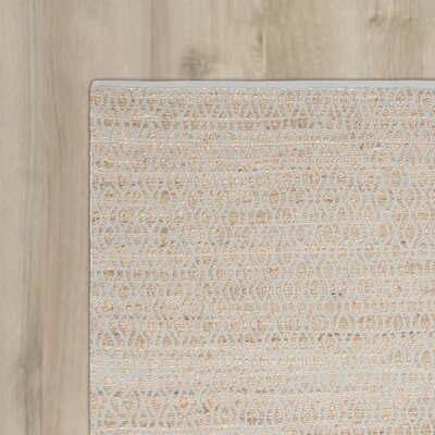 Zap Hand-Woven Silver/Natural Area Rug Rug Size: 6 x 9