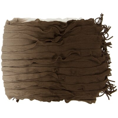 Adah Throw Blanket Color: Chocolate Brown