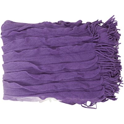 Adah Throw Blanket Color: Lavender