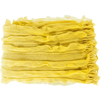 Adah Throw Blanket Color: Lemon