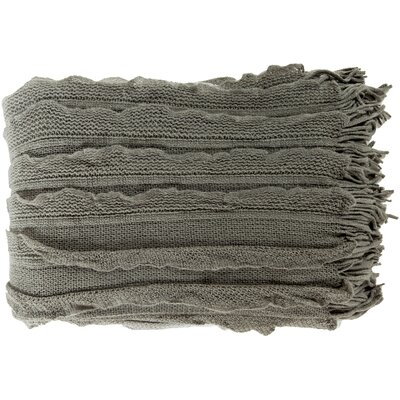 Adah Throw Blanket Color: Ash Gray