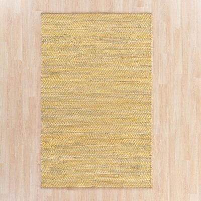 Sunflower Hand-Woven Yellow Area Rug Rug Size: Rectangle 36 x 56