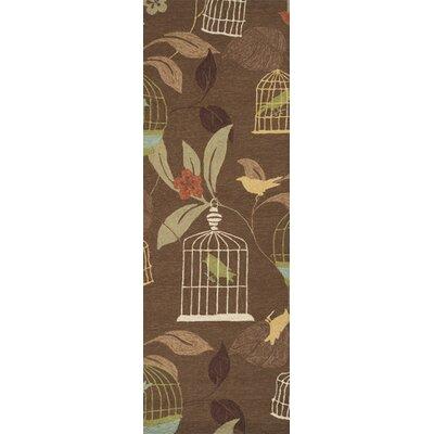 Millstone Cocoa/Taupe Indoor/Outdoor Area Rug Rug Size: Runner 26 x 8