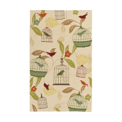 Millstone Ivory Indoor/Outdoor Rug Rug Size: Rectangle 2 x 3