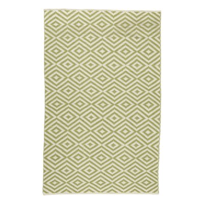 Aletha Hand-Woven Green Area Rug Rug Size: 7'6 x 9'6