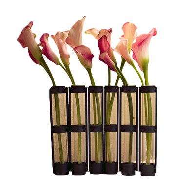 Movable 6 Tube Hinged Bud Vase