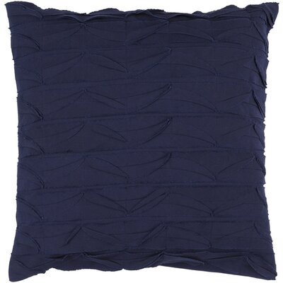 Cochran Ripple 100% Cotton Throw Pillow Size: 18 H x 18 W x 4 D, Color: Navy