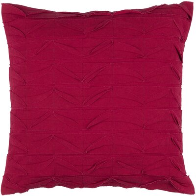 Cochran Ripple 100% Cotton Throw Pillow Size: 18 H x 18 W x 4 D, Color: Cherry