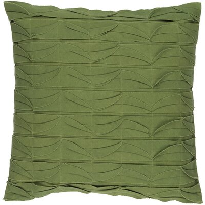 Cochran Ripple 100% Cotton Throw Pillow Size: 18 H x 18 W x 4 D, Color: Olive