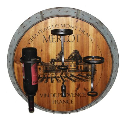 Eden Merlot 3 Bottle Wall Mounted Wine Rack