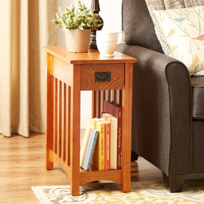 Alida End Table Color: Oak