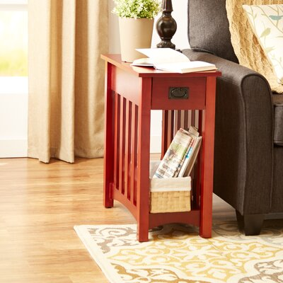 Alida End Table Color: Cherry