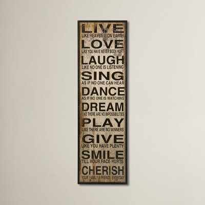 Dalton Gardens Live Love Laugh Textual Art ATGR2345 27036334