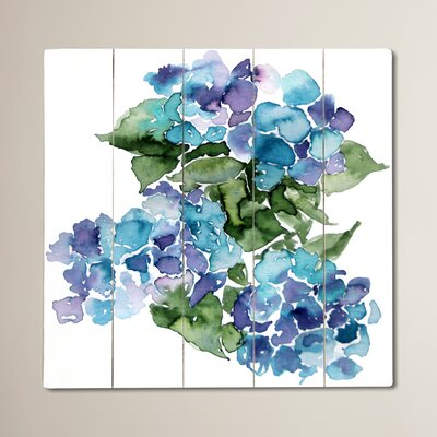 Blue Hydrangeas Painting Print Plaque