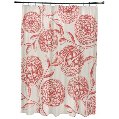Oliver Antique Flowers Print Shower Curtain