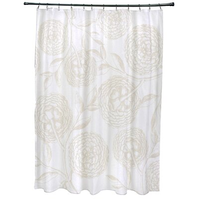 Chickamauga Antique Flowers Print Shower Curtain Color: White