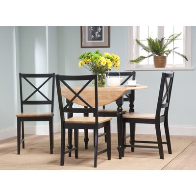 Sally 5 Piece Dining Set Finish: Black