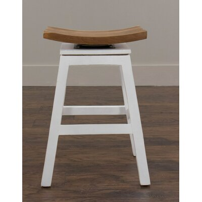 Elliot 24 Bar Stool Frame Finish: White
