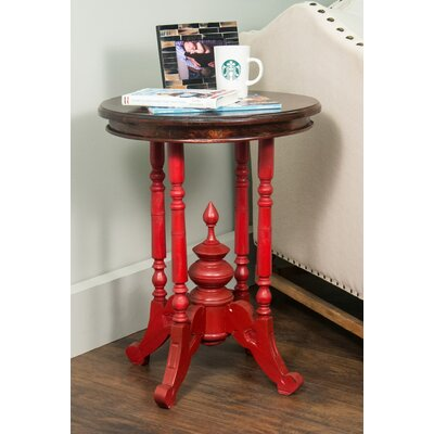 Perignan End Table Finish: Red