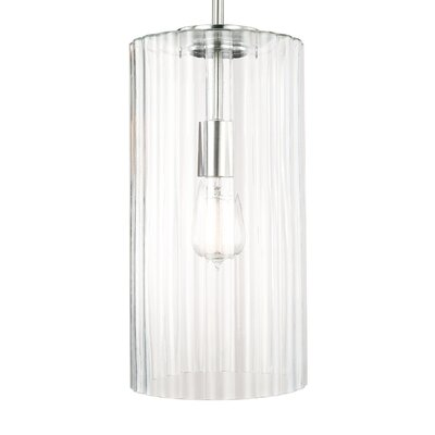 Mara 1-Light Pendant Finish: Brushed Nickel