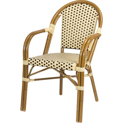 Dolly Stacking Dining Arm Chair Finish: Cream / Chocolate