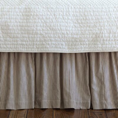 Zona Stripe 350 Thread Count Bed Skirt Size: Queen