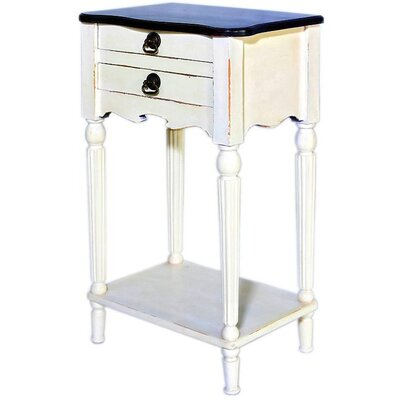 Lewisville End Table Color: White / Light Brown