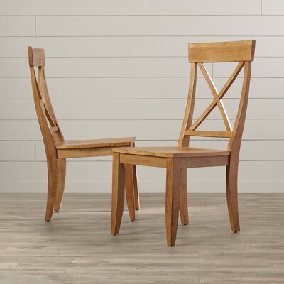 Gardner Side Chair (Set of 2) Finish: Honey