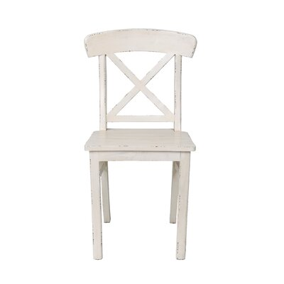 Granville Solid Wood Dining Chair Finish: Linen