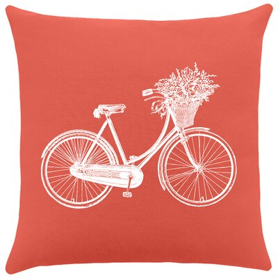 Cotton Throw Pillow Color: Cayenne