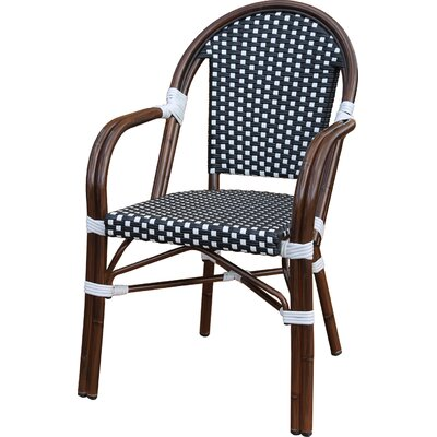 Dolly Stacking Dining Arm Chair Finish: Black / White