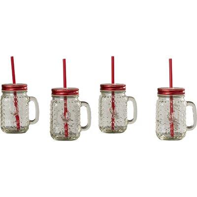 Rooster 16 oz. Mug with Handle and Straw ATGR3714 28234629