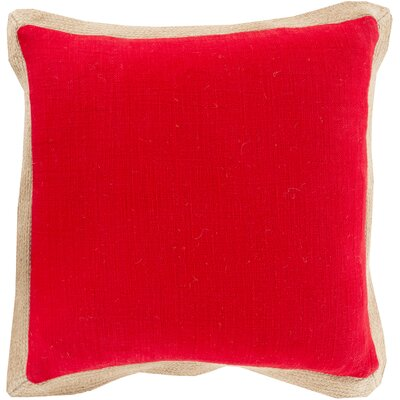 Mantador Throw Pillow Size: 18 H x 18 W x 4 D, Color: Poppy, Filler: Down